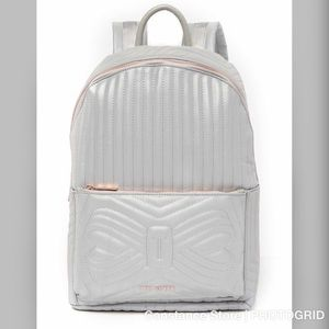 Ted Baker  Chevaan Reflective Quilted Bow Backpack